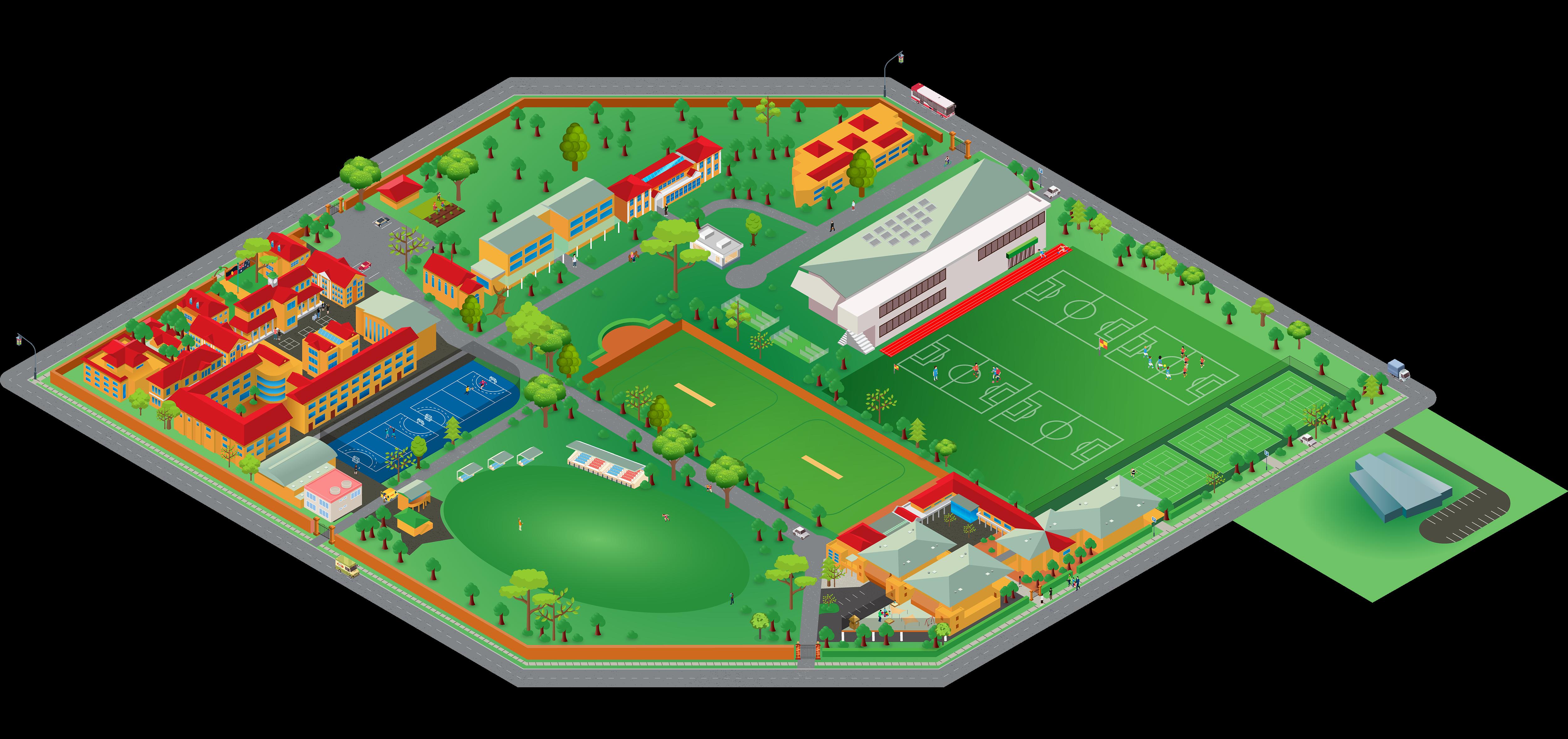 Barker College School Map